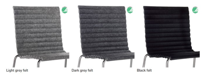 Rib Side Chair Eco Friendly Johanson Design at DeFrae Contract Furniture Reccyled PET Bottle Seat
