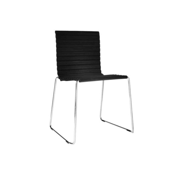 Rib Side Chair Eco Friendly Johanson Design at DeFrae Contract Furniture Sled Base