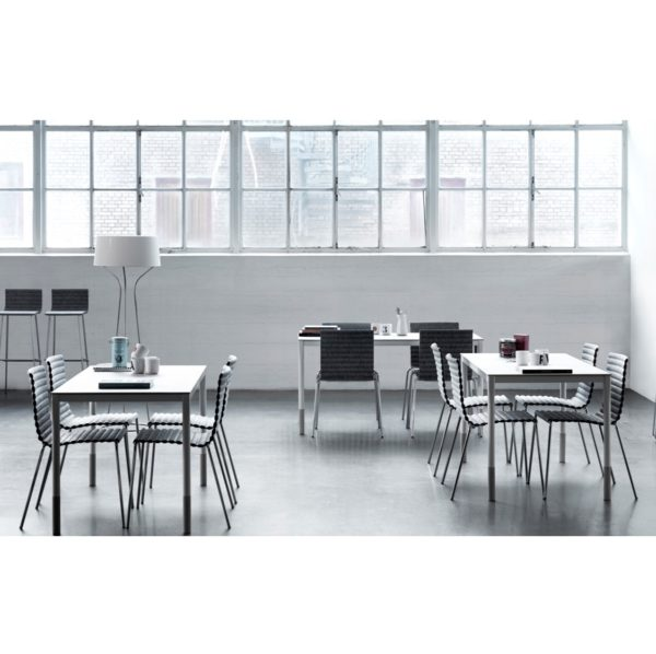 Rib Side Chair Eco Friendly Johanson Design at DeFrae Contract Furniture in situ 2
