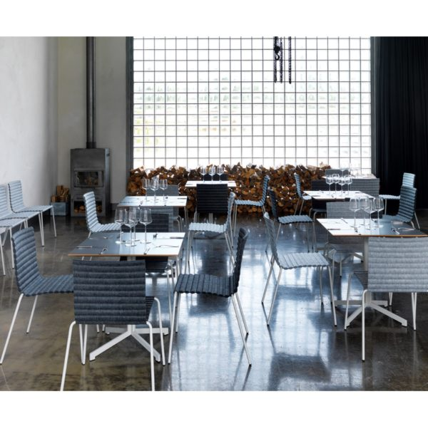 Rib Side Chair Eco Friendly Johanson Design at DeFrae Contract Furniture in situ