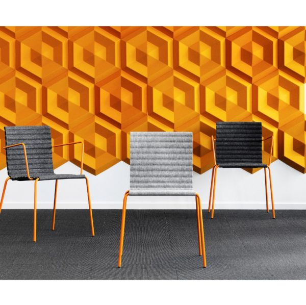 Rib Side Chair Eco Friendly Johanson Design at DeFrae Contract Furniture range