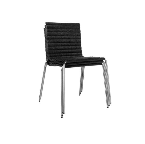 Rib Side Chair Eco Friendly Johanson Design at DeFrae Contract Furniture stackable