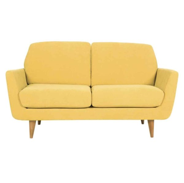 Richmond Sofa 2 Seater DeFrae Contract Furniture Rucola Sits Yellow