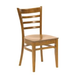 Rimini Classic Wood Chair DeFrae Contract Furniture Natural