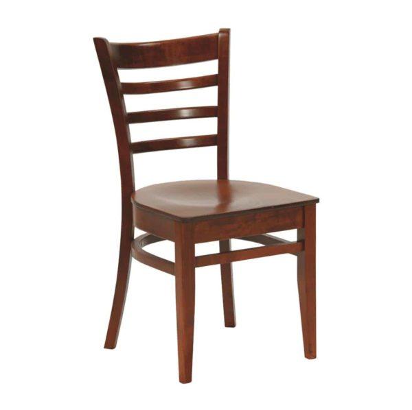 Rimini Classic Wood Chair DeFrae Contract Furniture Walnut