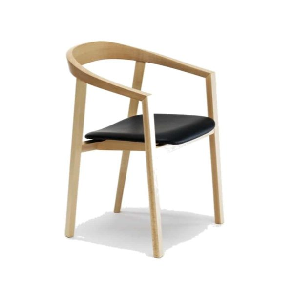 Ro Armchair Curved Back With Upholstered Seat DeFrae Comtract Furniture
