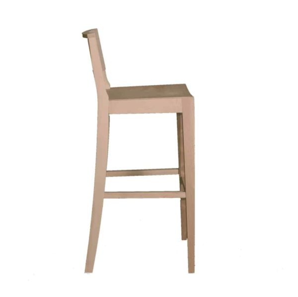 Robyn Bar Stool All Wood Chair DeFrae Contract Furniture