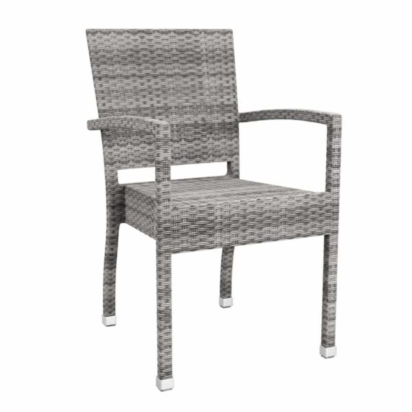 Rosa Armchair Rattan Outside Chair DeFrae Contract Furniture Grey