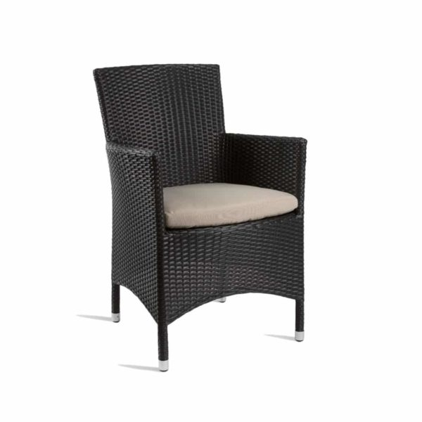 Rosa Lounge chair Rattan Outside Chair DeFrae Contract Furniture Black