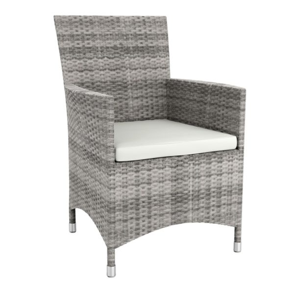 Rosa Lounge chair Rattan Outside Chair DeFrae Contract Furniture Grey
