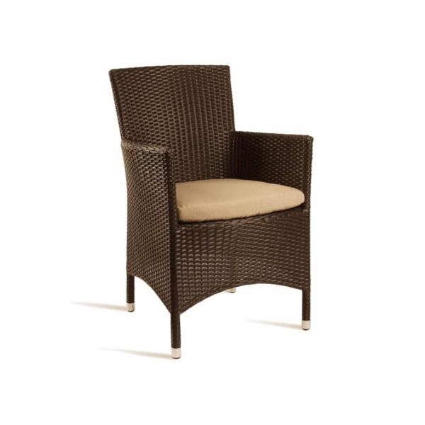 Rosa Lounge chair Rattan Outside Chair DeFrae Contract Furniture Mocca