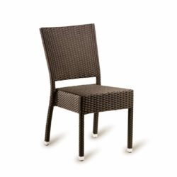 Rosa Side Chair Rattan Outside Chair DeFrae Contract Furniture Mocha