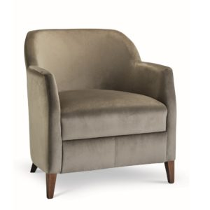 Rush Lounge Chair with classic legs at DeFrae Contract Furniture