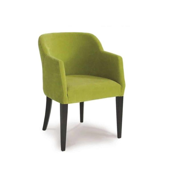 Rush armchair with classic legs at DeFrae Contract Furniture Green