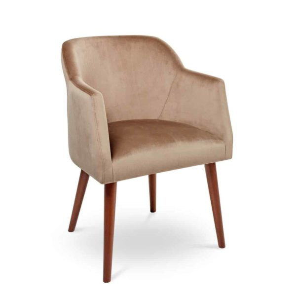 Rush armchair with round legs at DeFrae Contract Furniture