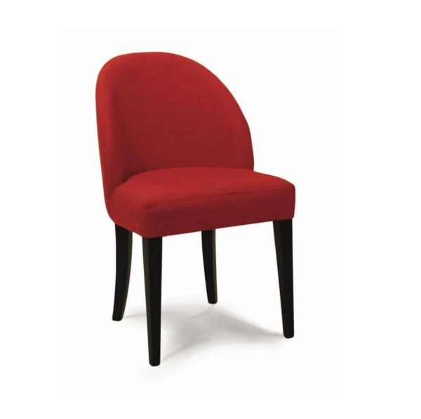 Rush side chair with classic legs at DeFrae Contract Furniture
