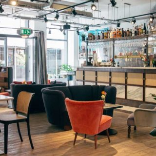 Bar Cafe and Coffee Shop Furniture by DeFrae Contract Furniture at Scarlett Green Soho