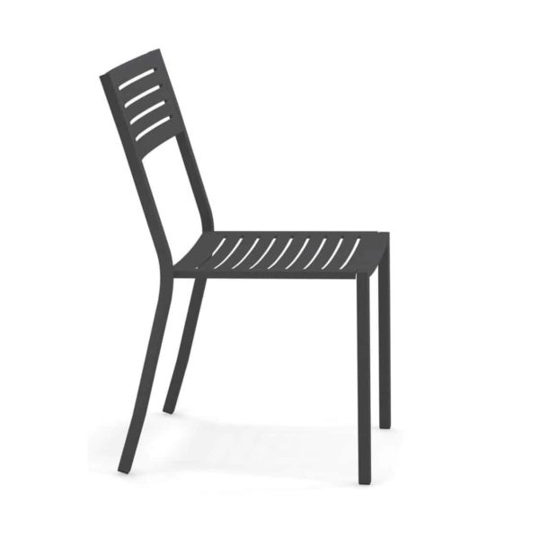 Segno Side Chair Emu DeFrae Contract Furniture Black Side View