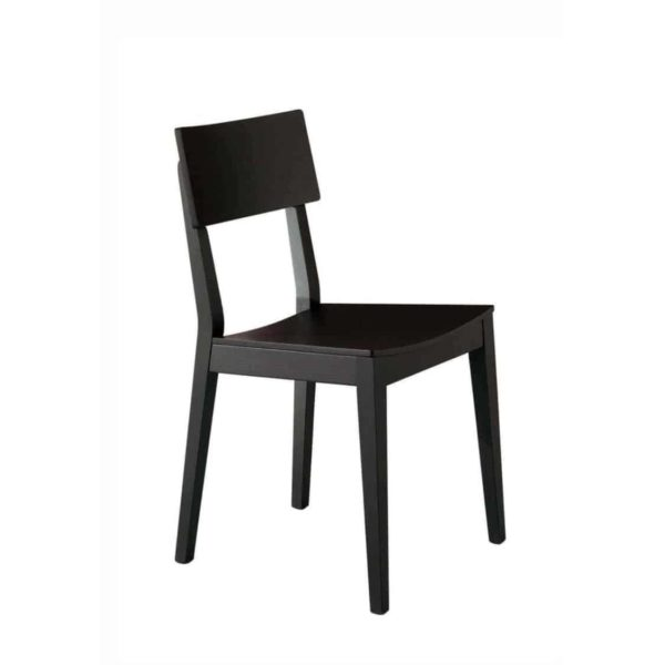 Serena Side Chair Wooden Classic Restaurant Chair DeFrae Contract Furniture Black
