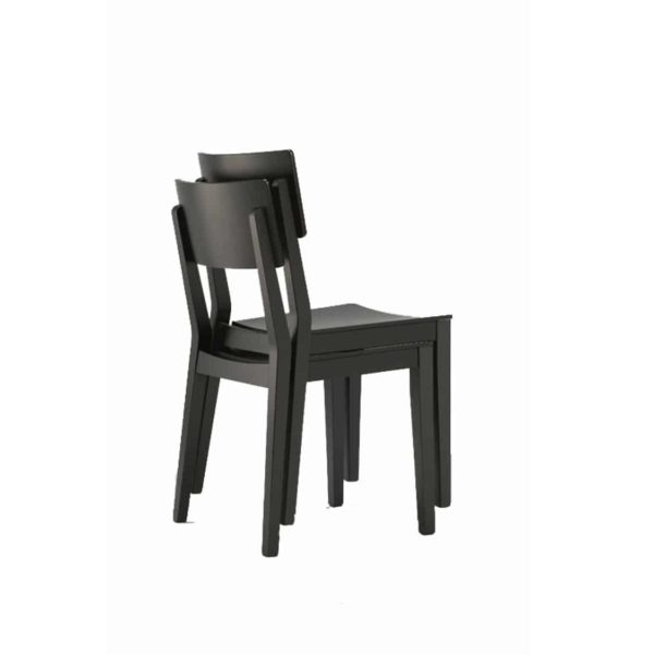 Serena Side Chair Wooden Classic Restaurant Chair DeFrae Contract Furniture Black Stackable
