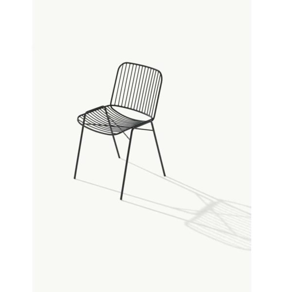 Shade Side Chair DeFrae Contract Furniture Metal Frame Outdoor Chair Black