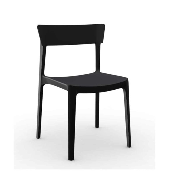 Skin Side Chair Calligaris at DeFrae Contract Furniture Black