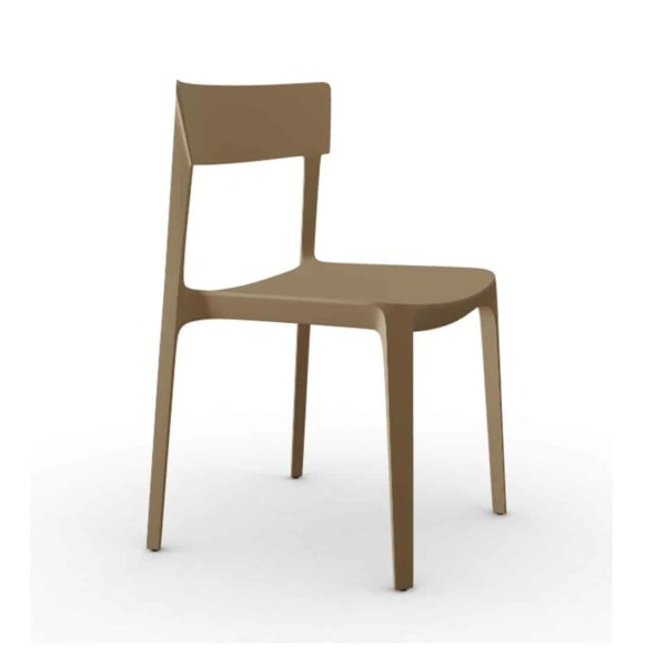 Skin Side Chair Calligaris at DeFrae Contract Furniture Brown