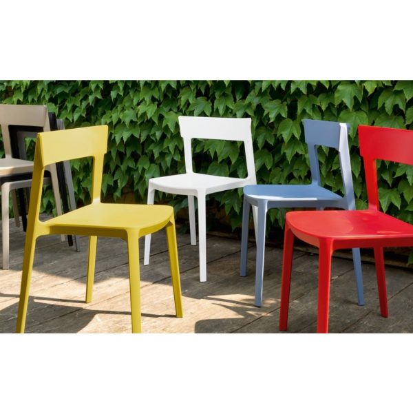 Skin Side Chair Calligaris at DeFrae Contract Furniture Colour Range