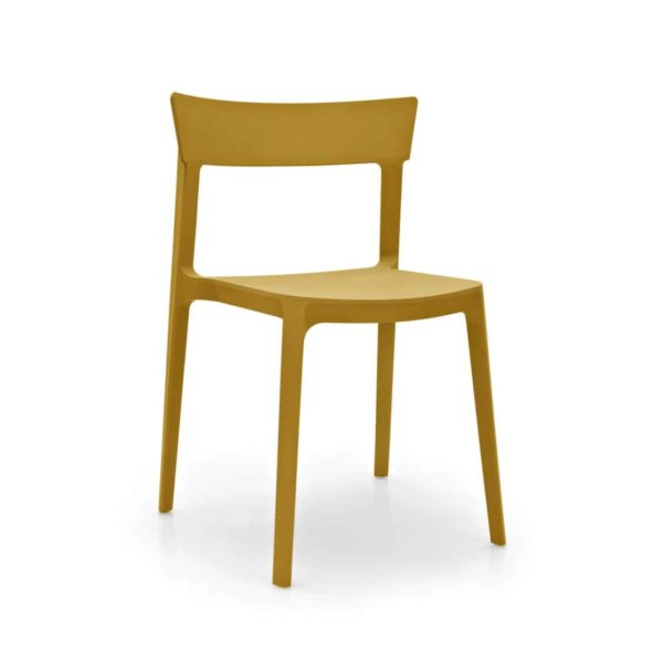 Skin Side Chair Calligaris at DeFrae Contract Furniture Mustard Yellow