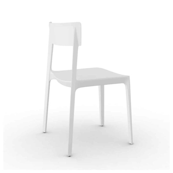 Skin Side Chair Calligaris at DeFrae Contract Furniture White