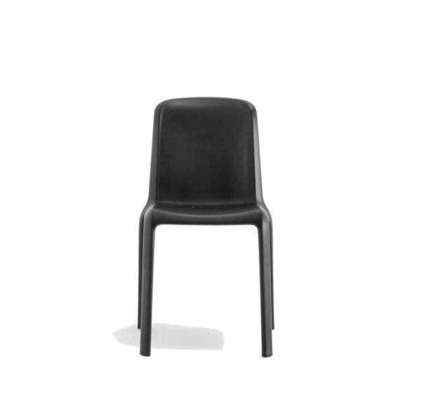 Snow Side Chair Stackable Outdoor Chair Pedrali at DeFrae Contract Furniture Black