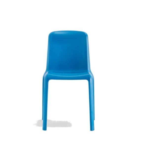 Snow Side Chair Stackable Outdoor Chair Pedrali at DeFrae Contract Furniture Blue