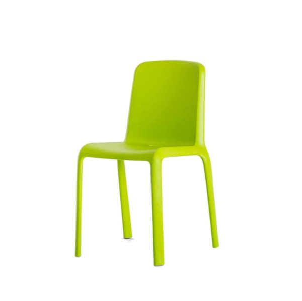 Snow Side Chair Stackable Outdoor Chair Pedrali at DeFrae Contract Furniture Lime Green