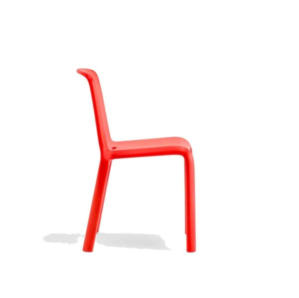 Snow Side Chair Stackable Outdoor Chair Pedrali at DeFrae Contract Furniture Red