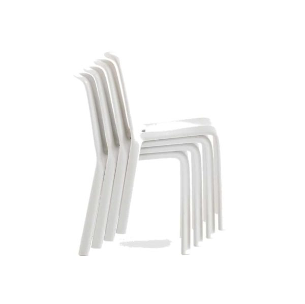Snow Side Chair Stackable Outdoor Chair Pedrali at DeFrae Contract Furniture White