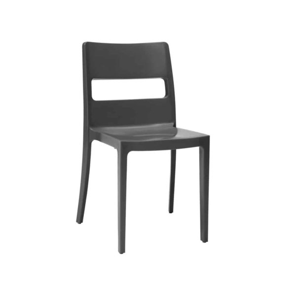 Sol Side Chair DeFrae Contract Furniture Outside Anthracite