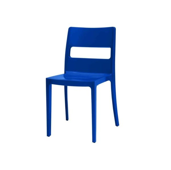 Sol Side Chair DeFrae Contract Furniture Outside Blue