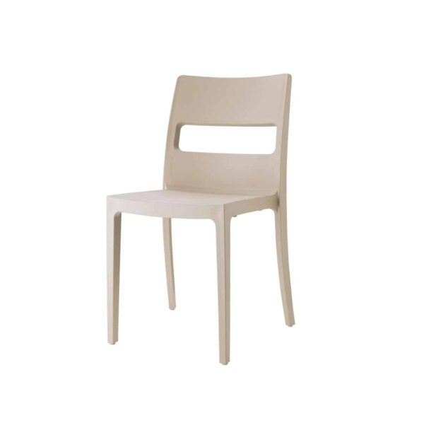 Sol Side Chair DeFrae Contract Furniture Outside Cream