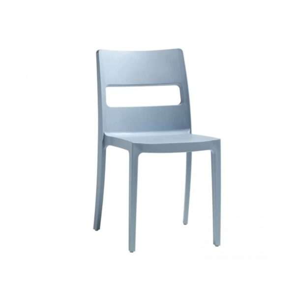 Sol Side Chair DeFrae Contract Furniture Outside Light Blue