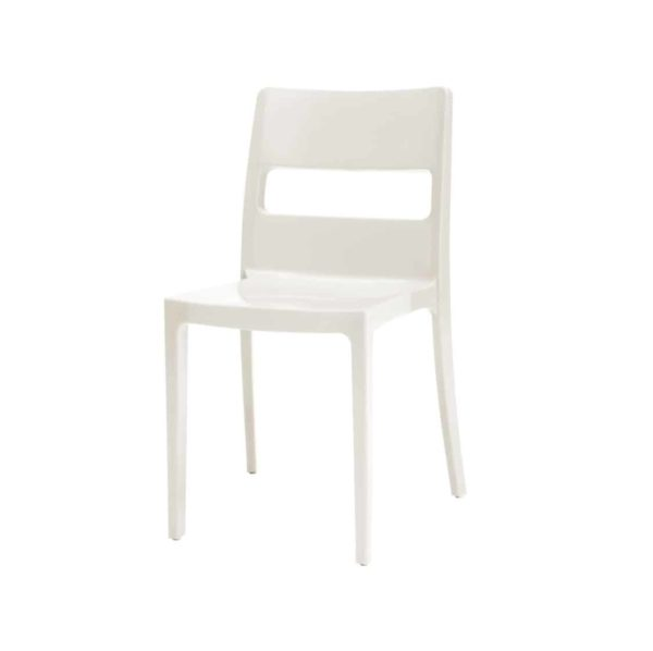 Sol Side Chair DeFrae Contract Furniture Outside White