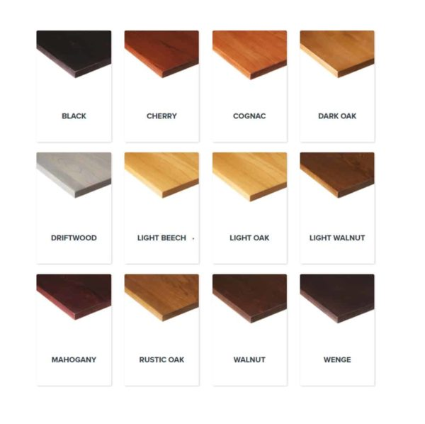 Solid Wood Scaffold Tabletops Ashwood DeFrae Contract Furniture Wood Stains