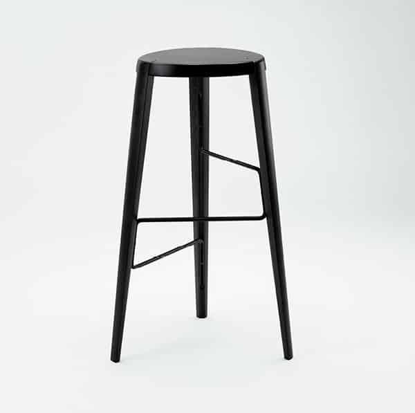 Sputnik Bar Stool DeFrae Contract Furniture Black