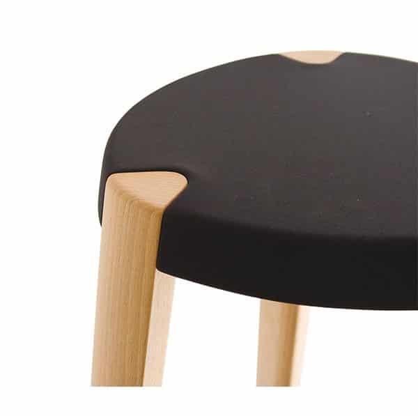 Sputnik Bar Stool DeFrae Contract Furniture Natural Range Fabric Seat