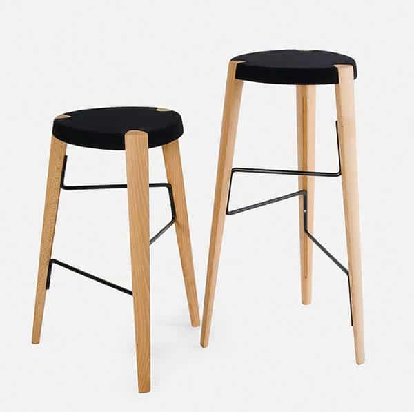 Sputnik Bar Stool DeFrae Contract Furniture Natural Range