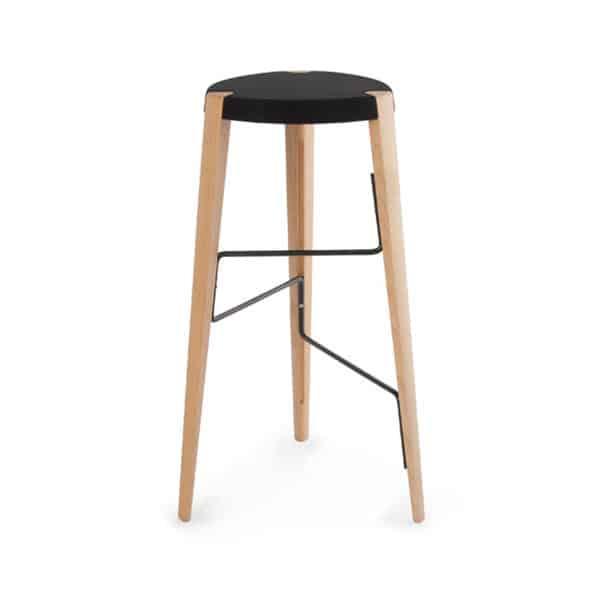 Sputnik Bar Stool DeFrae Contract Furniture Natural