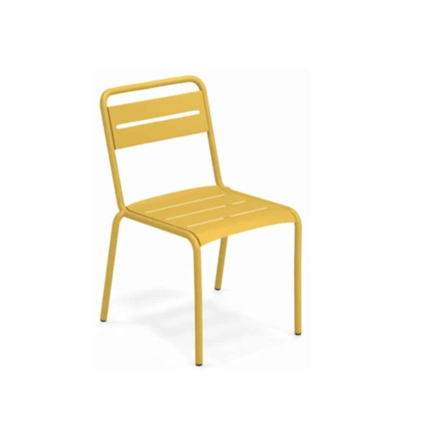 Star Side Chair Steel Curry Yellow 62
