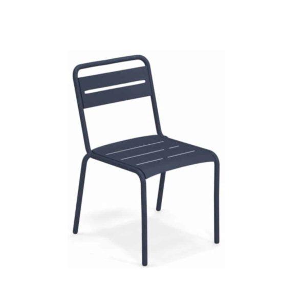 Star Side Chair Steel Dark Blue 48