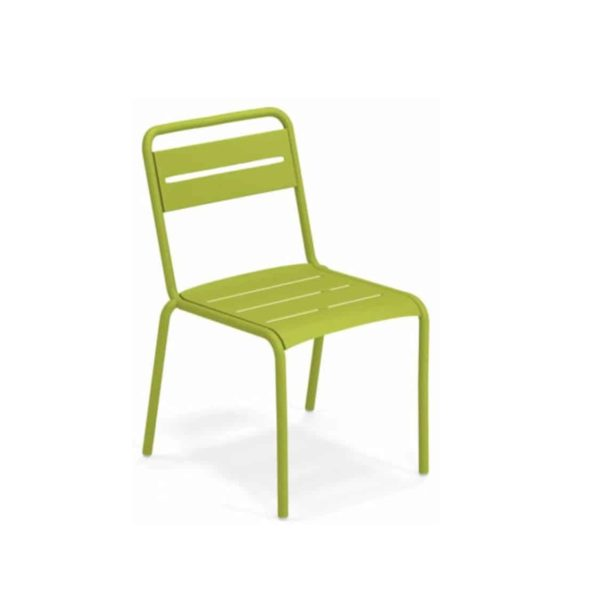 Star Side Chair Steel Green 60