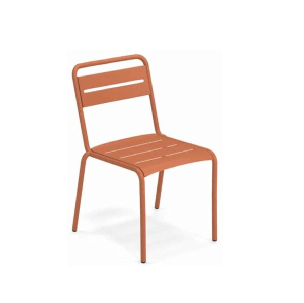 Star Side Chair Steel Maple Red 26