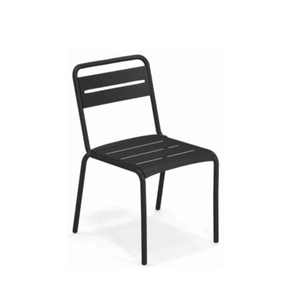 Star Side Chair Steel Matt Black 24